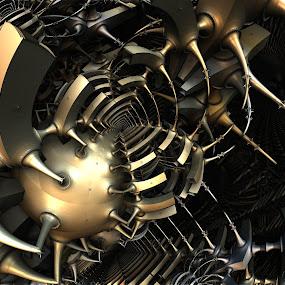 Egregious Malintent by Ricky Jarnagin - Illustration Abstract & Patterns ( abstract, ricky jarnagin, mandelbulb, dsynegrafix, 3d art, fractal )