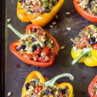 Mediterranean Stuffed Bell Peppers.