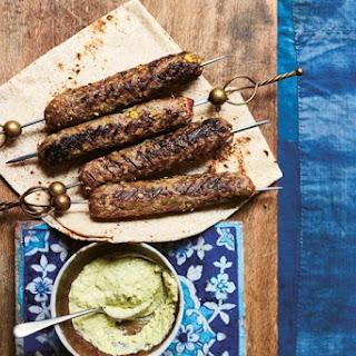 Beef Shashlik with Tahini and Pistachio Sauce