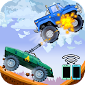 Two players game - Crazy racing via wifi (free) icon