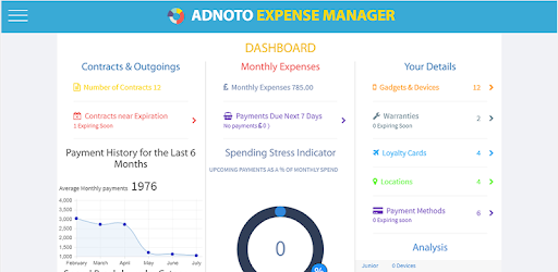 adnoto expense manager tracker planner apps on google play