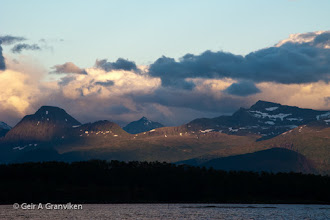 Photo: Part of the mountainous skyline visible to the South from Molde