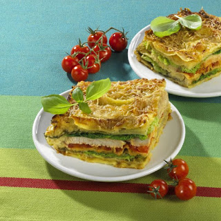 Chicken and Cabbage Lasagne.