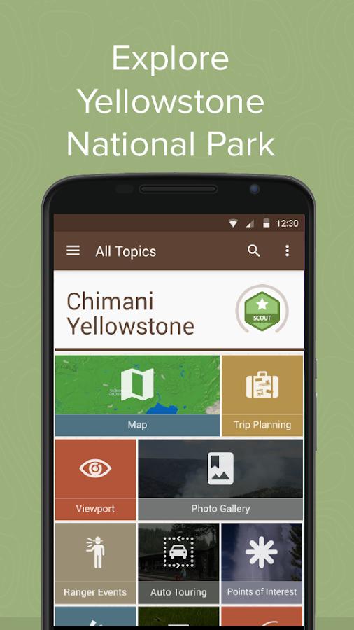 Chimani Yellowstone NP- screenshot