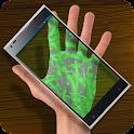 Scanner Bacteria Hand Joke icon