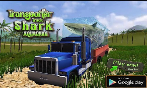 Transport Truck Shark Aquarium screenshot 0