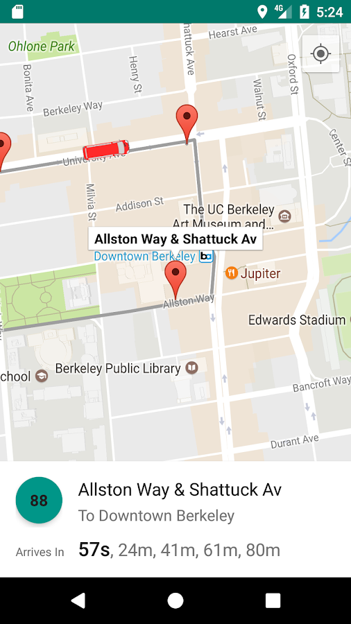 AC Transit Bus Tracker App - Commuting made easy.- screenshot