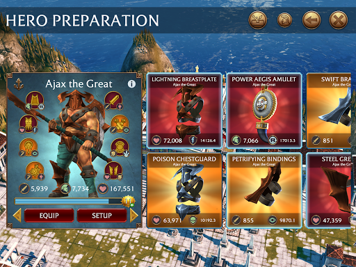 Olympus Rising: Tower Defense and Greek Gods apkpoly screenshots 18