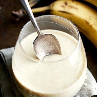 Banana Cream Pie Overnight Oatmeal Smoothie.