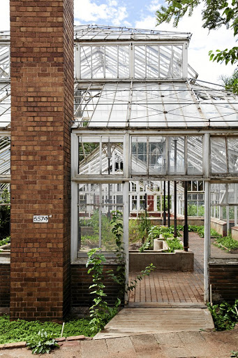 The old Victorian greenhouse structure at Joubert Park