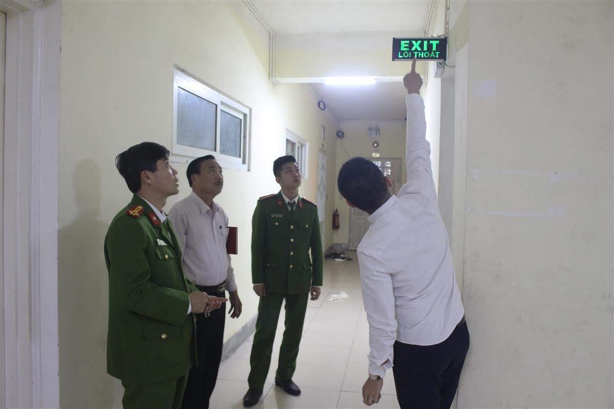Kiểm tra an toàn PCCC tại Chung cư Bông Sen, Phường Quang Trung, Tp.Vinh