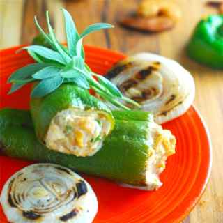 Smoked Shrimp-Stuffed Peppers