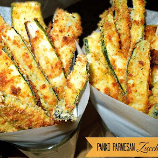 Panko-Parmesan Crusted Zucchini Fries Recipe