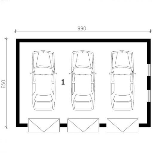 G165 - Rzut garażu