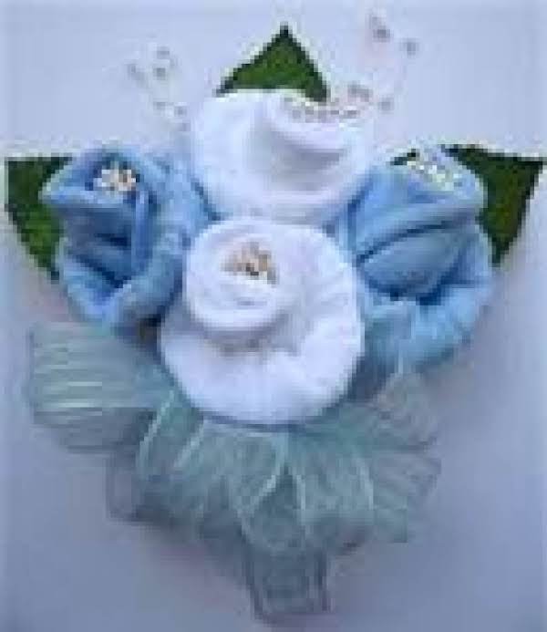 This Is A Mommy Corsage Made Of Baby Sox
