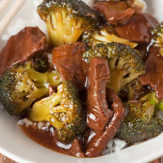 Slow Cooker Take Out Beef and Broccoli.