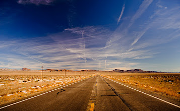 Photo: Driving Middle of Nevada somewhere