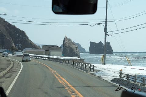 海岸線を走行。。。