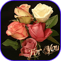 Flowers Bouquet Glitter HD and Roses Photos Gif 3D icon