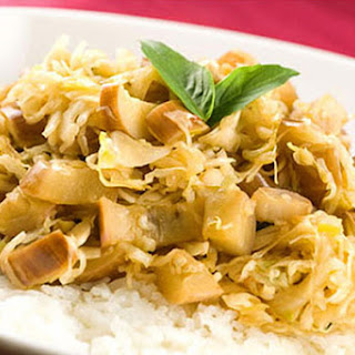 Thai Fried Cabbage and Eggplant