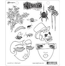 Dylusions Cling Stamps 8.5X7  - Bits of This