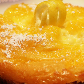 Peachy lemon Cheesecake Bars