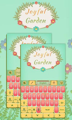 Joyful Garden Keyboard Theme