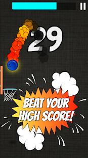 Hot Dunk: Addicting Tap Basketball Hoop Shots Game Screenshot