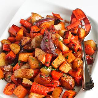 Tart Cherry Glazed Roasted Root Vegetables