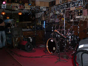 Photo: Stage setup for Holdsworth's band.