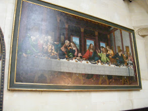 Photo: This copy of da Vinci's Last Supper, painted by his student Marco d' Oggiono, is still hanging in the chapel since the time of the Duke.