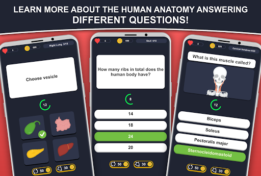 Anato Trivia -  Quiz on Human Anatomy screenshots 1