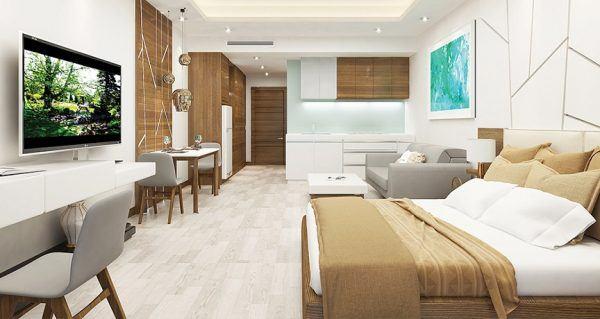 Căn hộ một phòng ngủ tại dự án lớn với vị trí thuận lợi