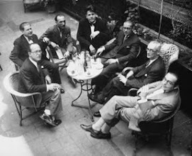 Photo: Compositors independents de Catalunya (CIC) D'esquerra a dreta: Robert Gerhard, Agustí Grau, Joan Gilbert Camins, Eduard Toldrà, Manuel Blancafort, Baltasar Samper i Joan Lamote de Grignon. Hi falta Frederic Mompou. (1931)