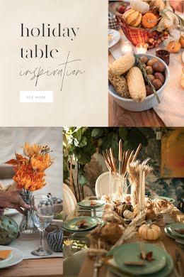 Holiday Table Inspo - Pinterest Pin item