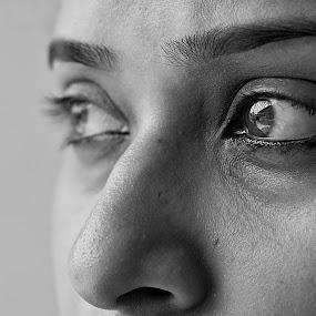 When the Eyes Speak... by Rana Dasgupta - People Body Parts ( black and white )