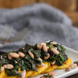 Polenta with Swiss Chard and White Beans Recipe