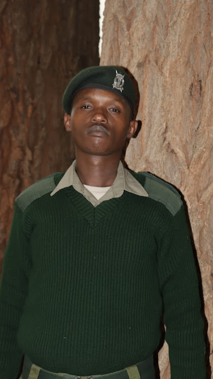 Joseph Mwangangi in uniform