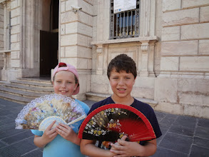 Photo: We brought fans to beat the heat - this was pretty much the only time the entire trip when it was hot