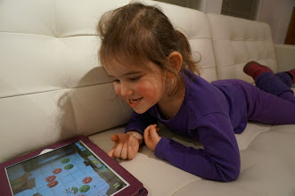 Photo: Playing Bugs and Buttons on iPad