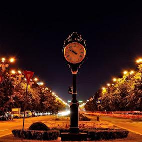 by Mihaly Istvan - City,  Street & Park  Street Scenes