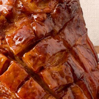 Sweet and Sticky Apricot Glazed Ham.