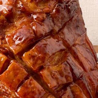 Sweet and Sticky Apricot Glazed Ham.