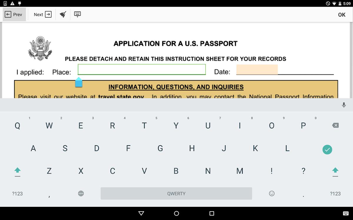 Form DS 11: Sign Digital Passport eForm – (Android 應用程式