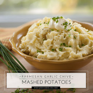 Parmesan Garlic & Chive Mashed Potatoes.