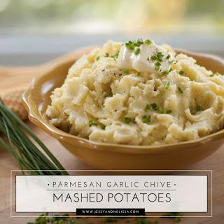 Parmesan Garlic & Chive Mashed Potatoes.
