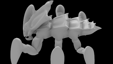 Photo: Untextured dragoon.