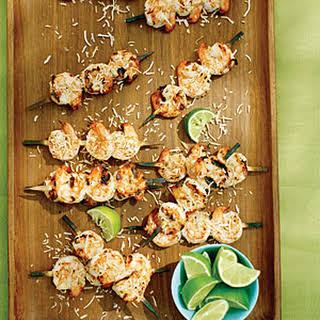 Coconut Lime Shrimp Skewers.