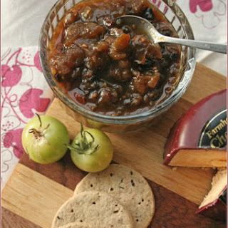 Spicy green tomato and apple chutney – move over, Mrs Ball!