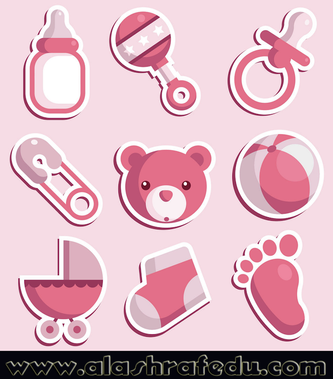 Baby Shower Pink Icons RT09O6EL6R8Dkr2KSPym